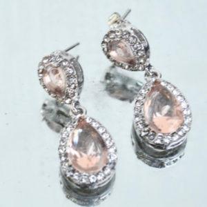 💋3 for $20 Rhinestone Smoky Topaz Drop Earrings